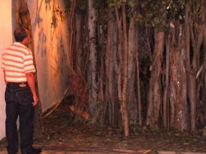 La potajera, instalación de joven artista plástico que recrea un famoso sitio de encuentro gay de la capital.