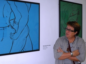 Obras de Rocío García, la autora de la pintura que identifica esta bitácora.