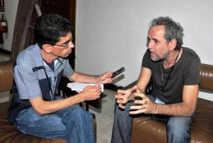 Gracias a Robertico Suárez por esta foto cuando entrevistaba a Willy.
