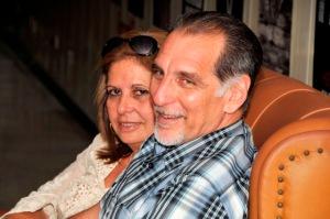 René y su esposa Olguita, radiantes.