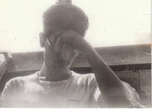 No recuerdo quién me hizo esta foto por aquella época, pero nunca me gustó la expresión de ¿angustia? ¿o simplemente cansancio?