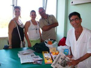 En el IPK me visitaron colegas y hasta un amigo de Facebook que no conocía en persona y estaba de visita en Cuba.