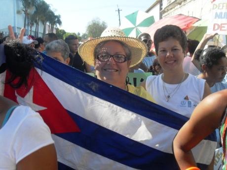 La bandera cubana siempre