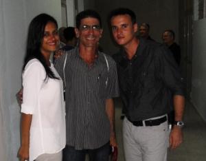 Con Dianelis y Fernando