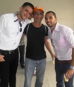 Con Gilberto y Alejandro