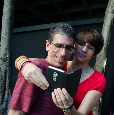 Ana Carla y yo nos hacemos la selfie