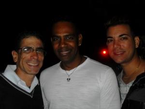 Al centro, Alain Darcout, y a la derecha, Manuel Vázquez Seijido, asesor jurídico del Centro Nacional de Educación Sexual (Cenesex), quien me invitó a acompañerle a una breve visita de trabajo a Cienfuegos.