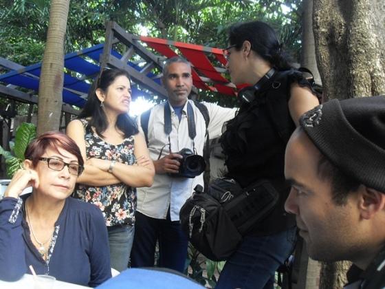 Todo mezclado, periodistas y activistas, de Cuba y de fuera