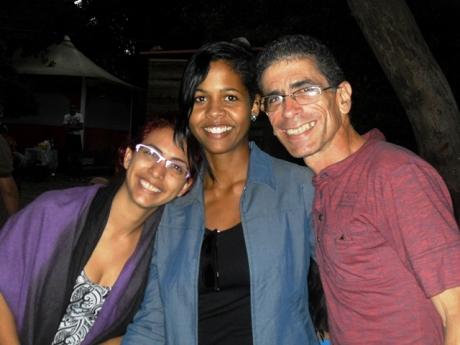 Lisandra, del Icaic; y Amaya, del Cenesex