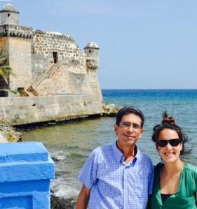 Con Adriana...