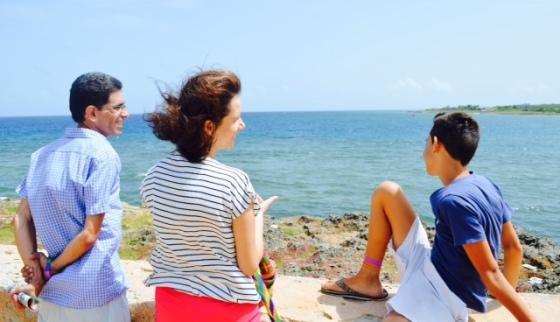 Catherine, Javier y yo...