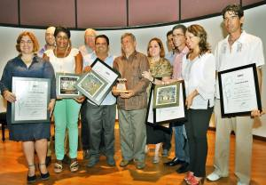 Un privilegio estar entre colegas de tanta valía, incluyendo al Loquillo, premio José Martí por la obra de la vida.