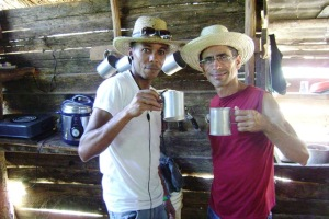 En casa de Ramón, un guajiro amable que nos regaló mameyes y prestó su casa para sesión de fotos...
