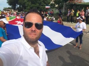 Selfie de Michael durante la Conga contra la Homofobia en Las Tunas, el pasado 16 de mayo.