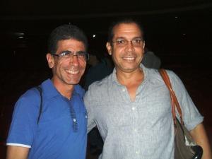Con el realizador y amigo Rolando Almirante, al concluir el estreno de Enriqueta y Adela