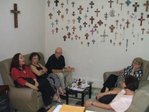 El rector del Seminario Evangélico de Teología recibió a Mariela, junto con la vicerrectora y la diputada, reverenda Miriam Ofelia Ortega