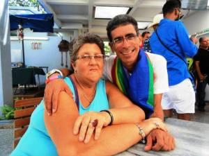 Pabellón Cuba, con la colega y amiga Mildred Obourke