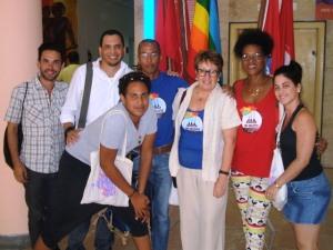Activistas del grupo Humanidad por la Diversidad en evento científico en la Central de Trabajadores de Cuba