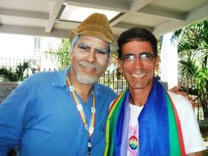Con Pánfilo (Luis Silva), en el Pabellón Cuba, 14 de mayo