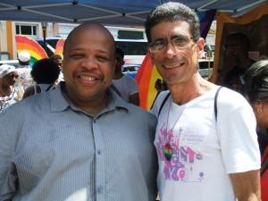 Con Louis-Georges Tin, activista francés que propuso e impulsó la celebración del Día Internacional contra la Homofobia y la Transfobia cada 17 de mayo, en su primera visita a Cuba