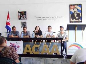 Conferencia de prensa en Matanzas, 16 de mayo. Foto: Juventud Rebelde