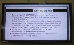Algunas de las conclusiones del autor de la tesis