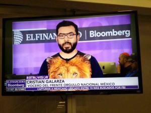 En una reciente comparecencia en la TV mexicana (Foto tomada de su muro en FB)
