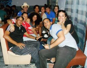 La avanzada en llegar a Matanzas disfrutó del mejor café en el salón azul de la Asociación Cubana de Artesanos Artistas