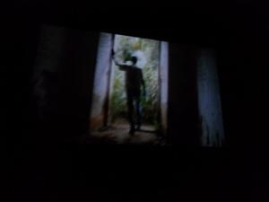 Fotograma de la película tomado de la pantalla durante su estreno